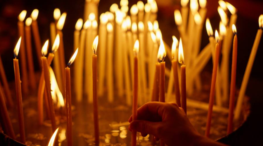 Candele al Santo Sepolcro Gerusalemme