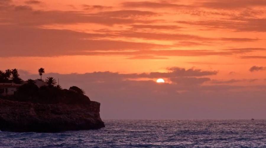 tramonto a cala mandia