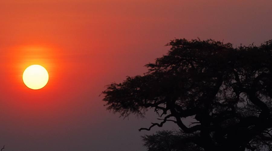 tramonto nel Kruger