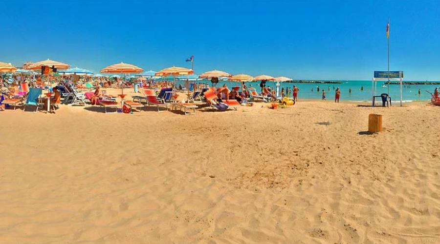 La spiaggia di sabbia fine