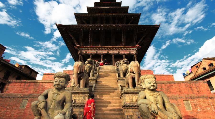 Tipica pagoda a Kathmandù