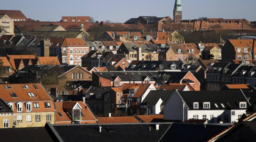Aarhus vista panoramica