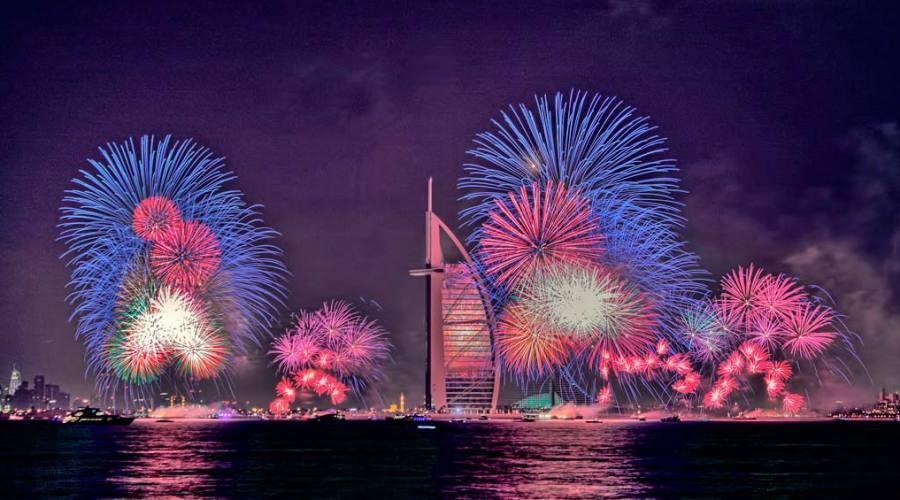 Fuochi d'artificio alla Jumeirah