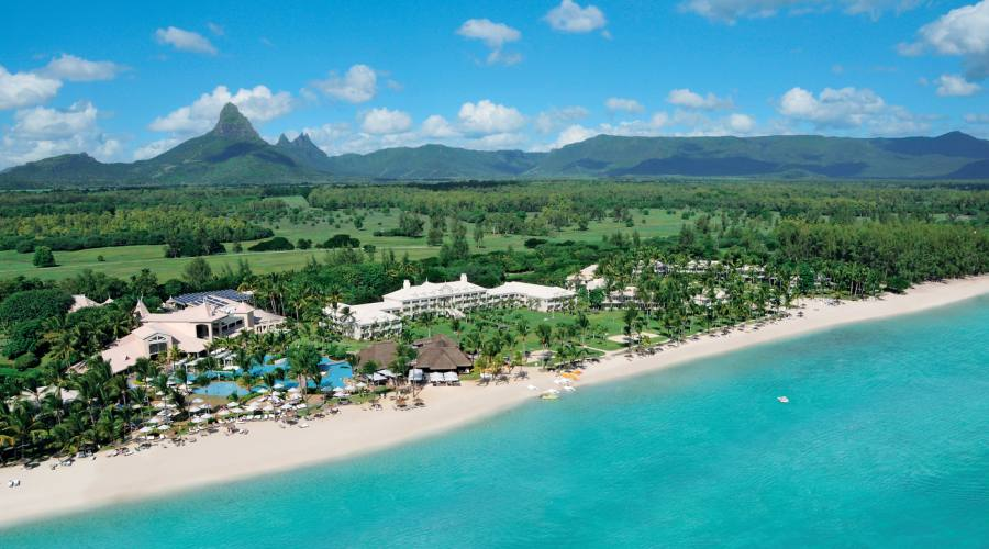 Vista aerea dell'hotel