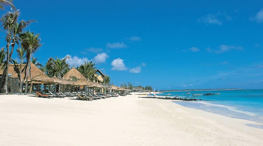La spiaggia dell'hotel