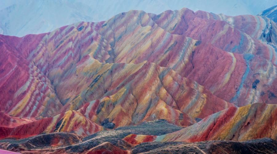 Rainbow Mountain Montagne Arcobaleno Geopark Zhangjie
