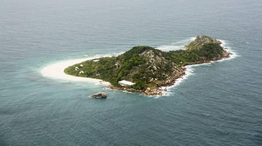 Cousine Island dall'alto