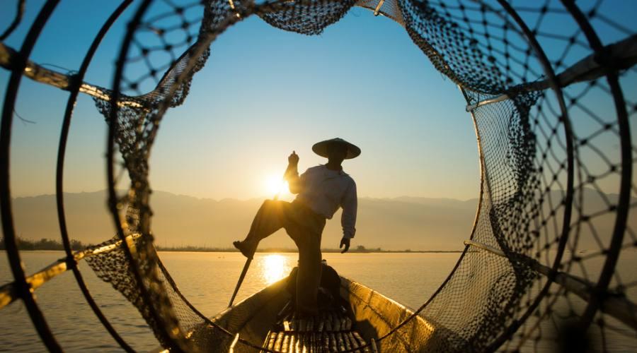 Pescatore birmano sul Lago Inle