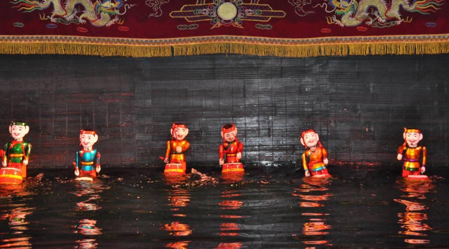 Hanoi: teatro marionette