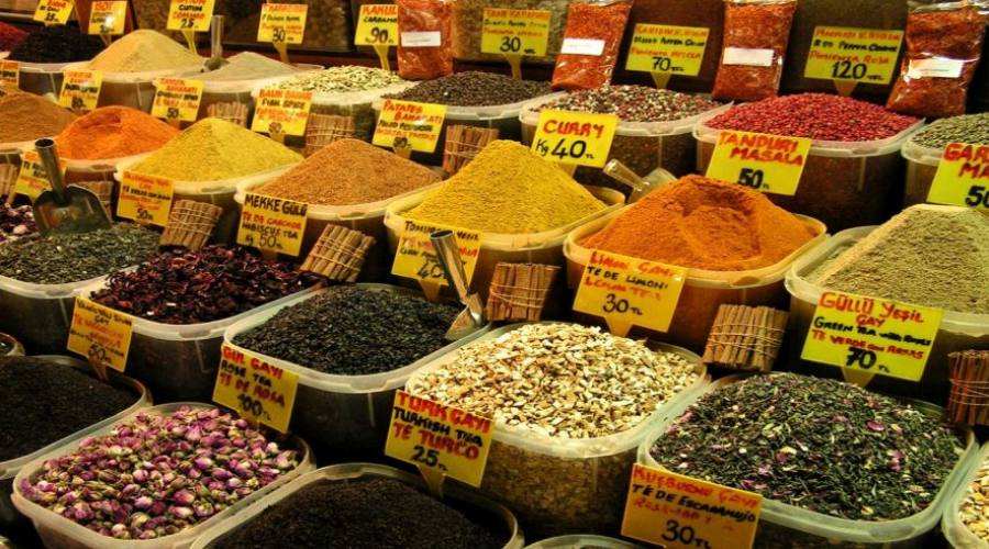 mercato egiziano delle spezie