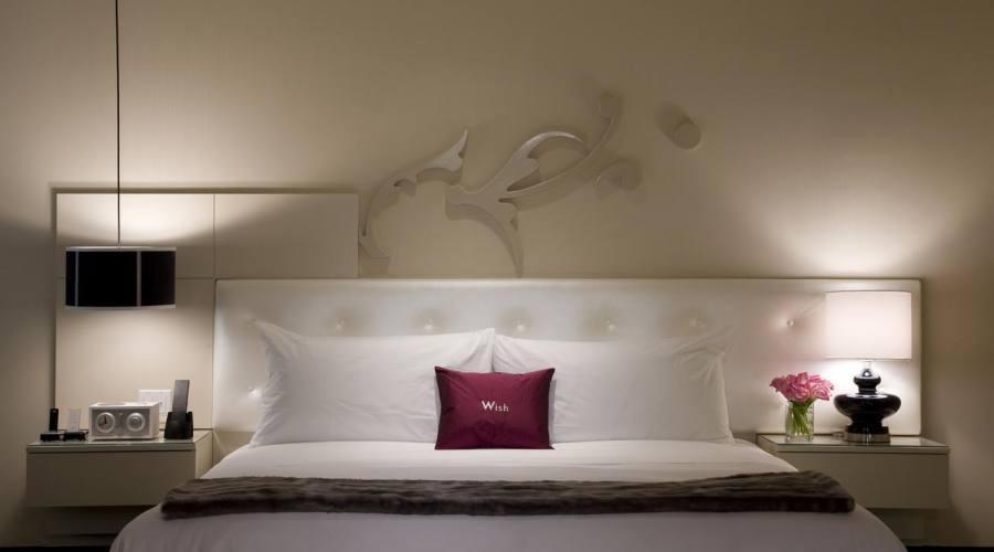 Camera da letto dell'albergo