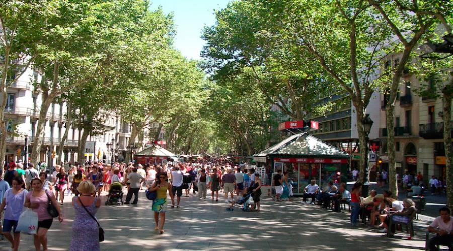 La Rambla a Barcellona