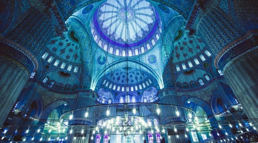 interni moschea blu