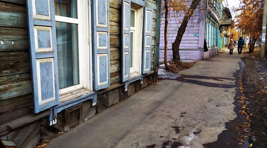 Irkutsk case di legno