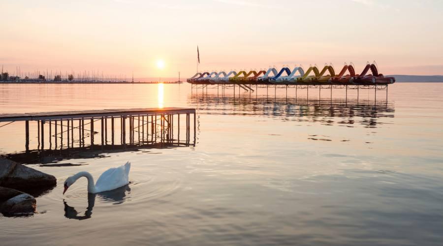 Tramonto sul Lago Balaton