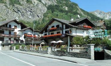Hotel centrale con vista sul Monte Bianco