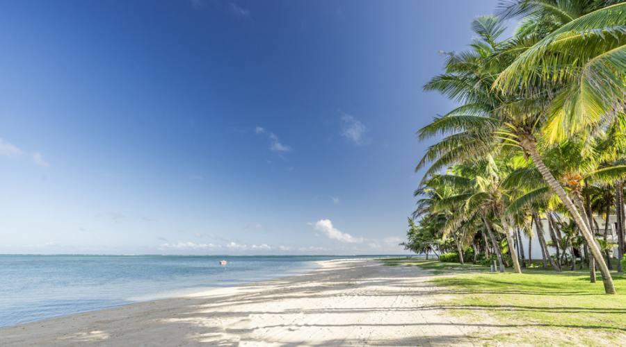 Tratto di spiaggia davanti all'hotel