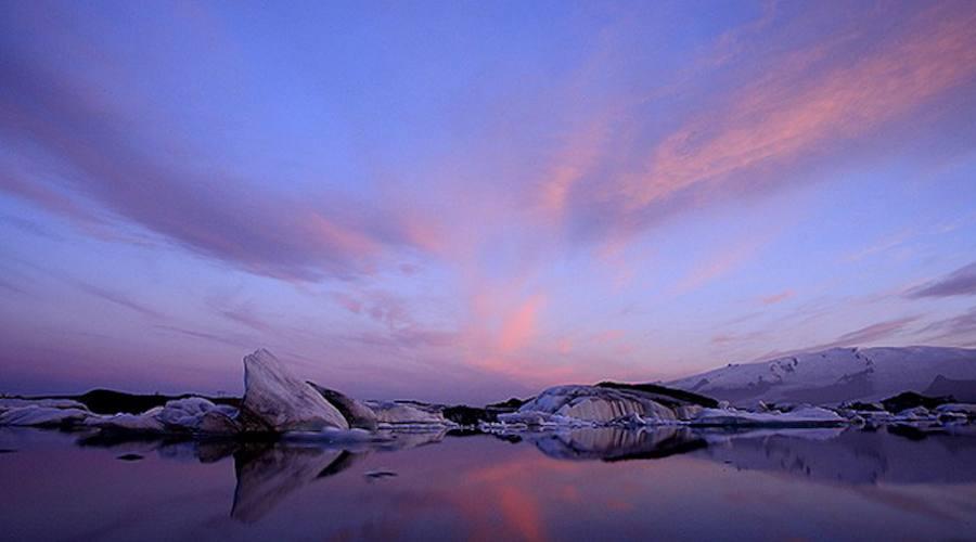 tramonto fragli icebergs