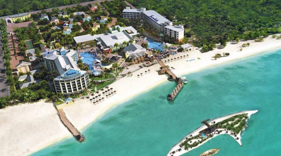 Veduta aerea del Sandals Royal Bahamian Spa Resort