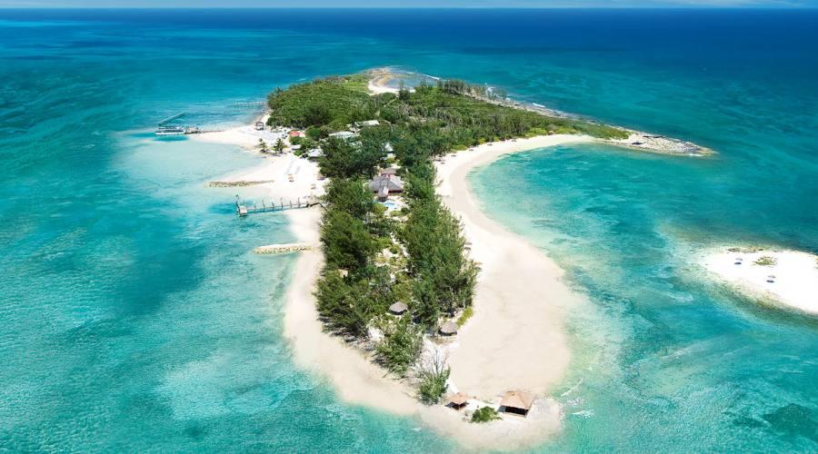 Veduta aerea dell'isola privata