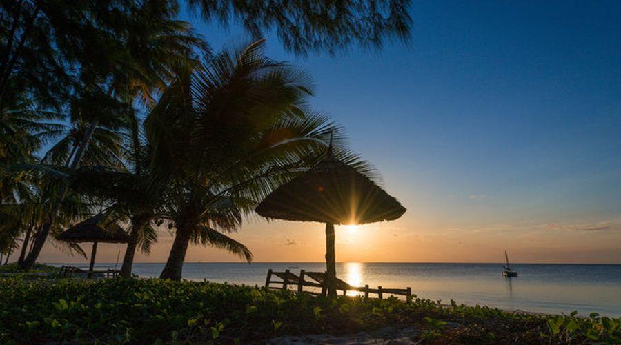 il tramonto nell'isola