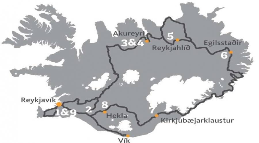 Itinerario tour di gruppo Islanda