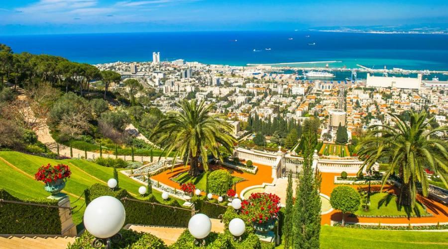 Haifa panorama dai Giardin Baha'i