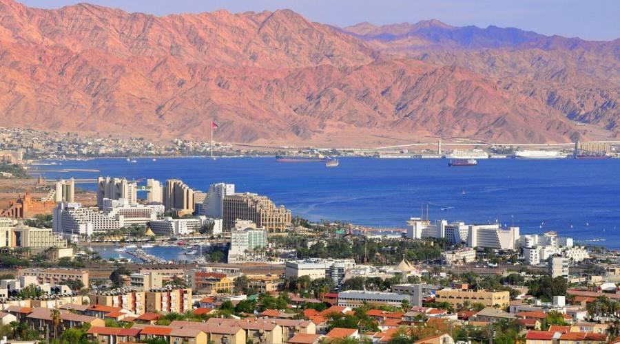 Eilat vediuta della città