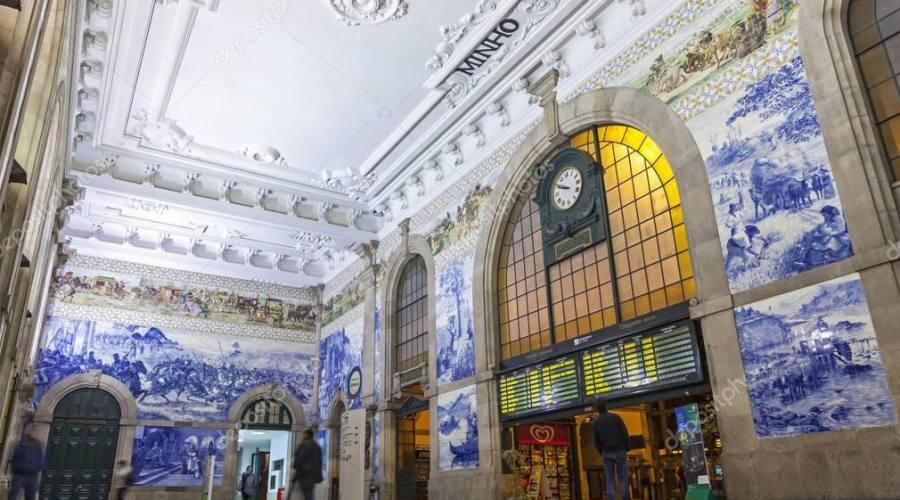 Azulejos in stazione a Porto