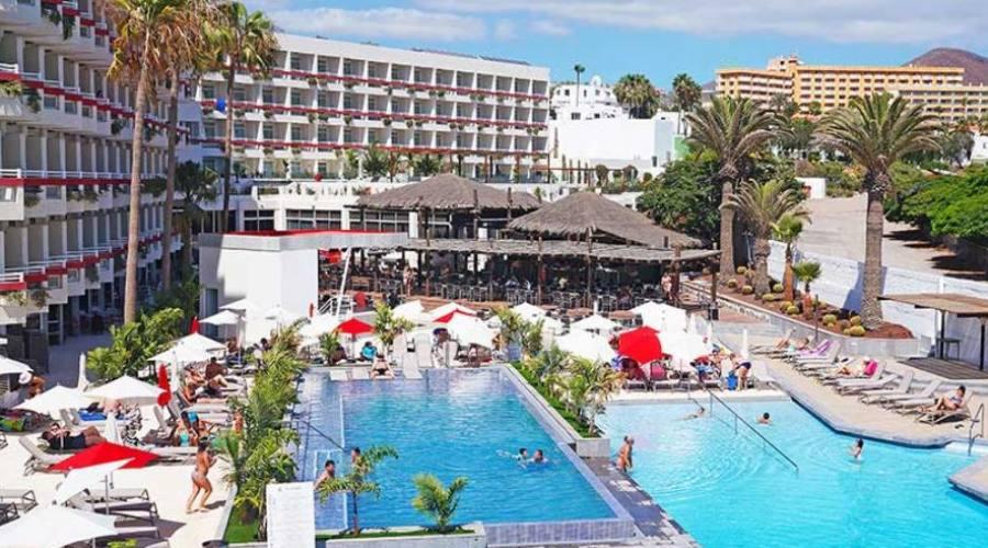 struttura e piscina (hotel troya playa de las americas).