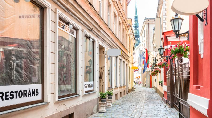 Lettonia Riga centro città medievale