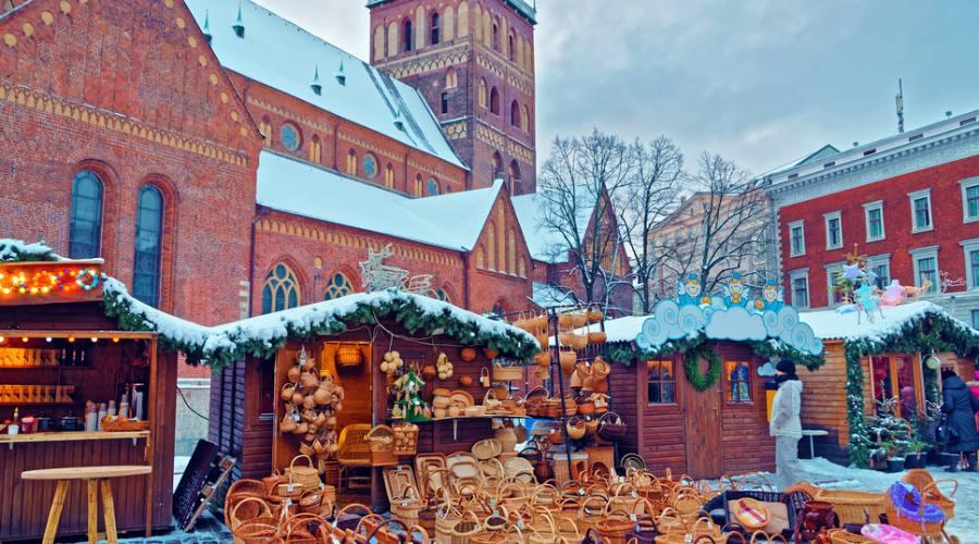 Lettonia Riga mercatino natalizio
