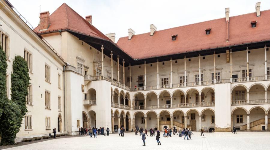 Cortile del Castello di Wawel