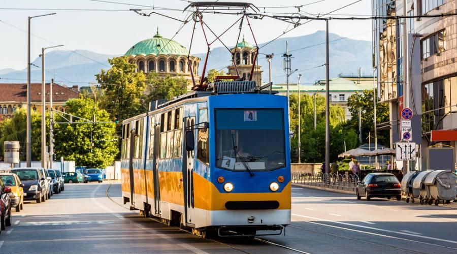 Antico tram a Sofia