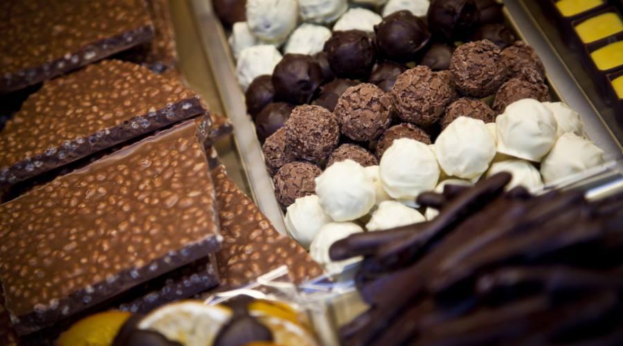Gustare il cioccolato a Bruges