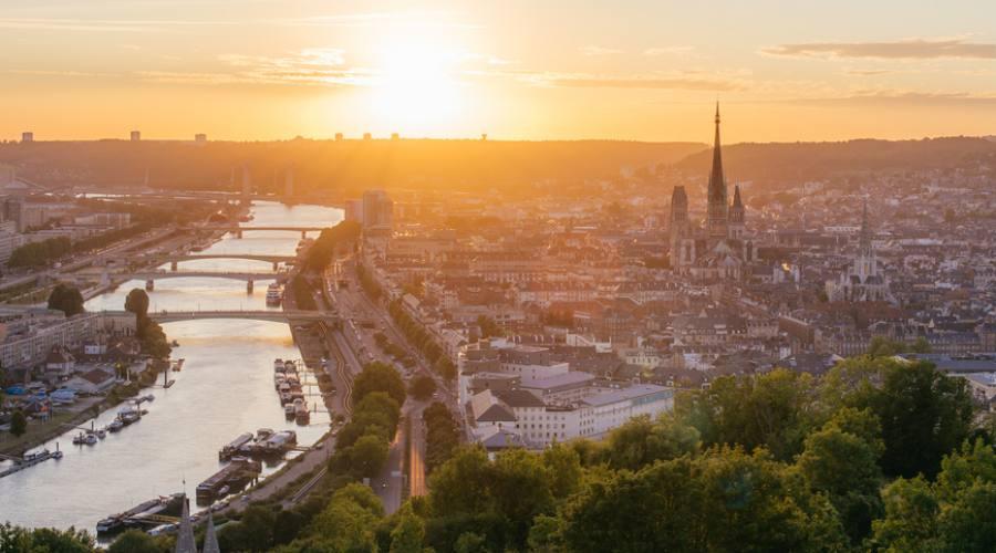 Tramonto su Rouen