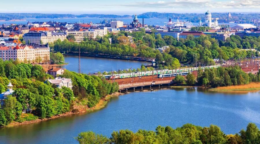 Vista aerea Helsinki
