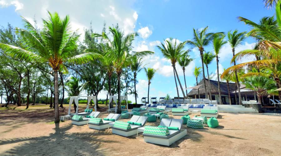 Area relax sulla spiaggia