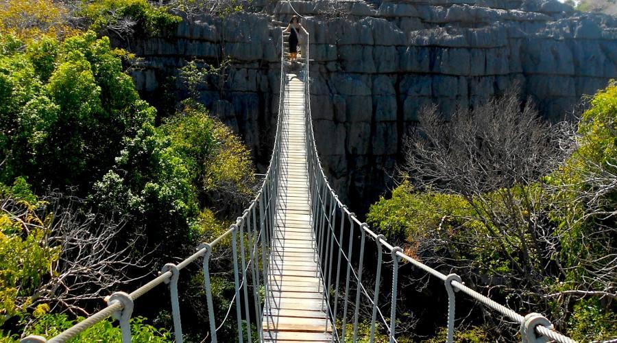 Ponte sospeso - Parco Ankarana