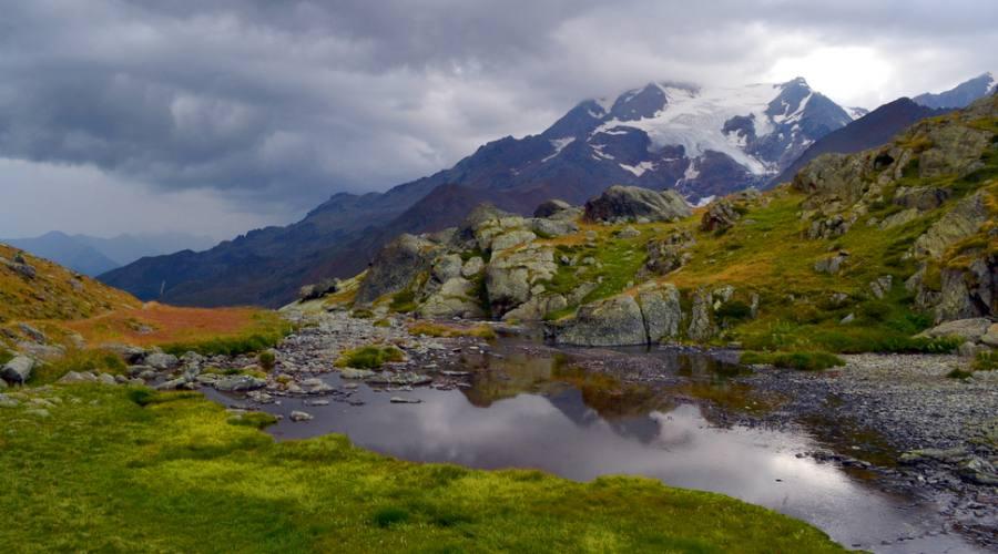 Paesaggio estivo nel Parco Nazionale dello Stelvio