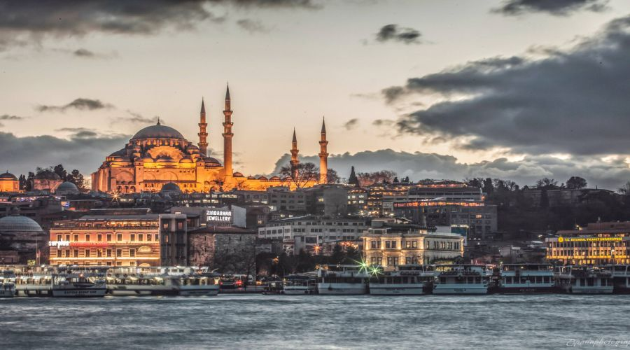 Vista della Moschea Blue