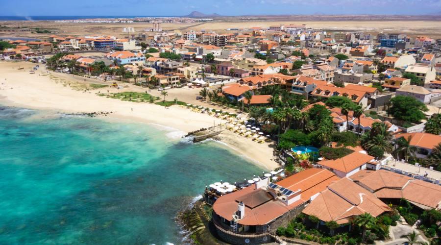 Vista panoramica della spiaggia di Santa Maria