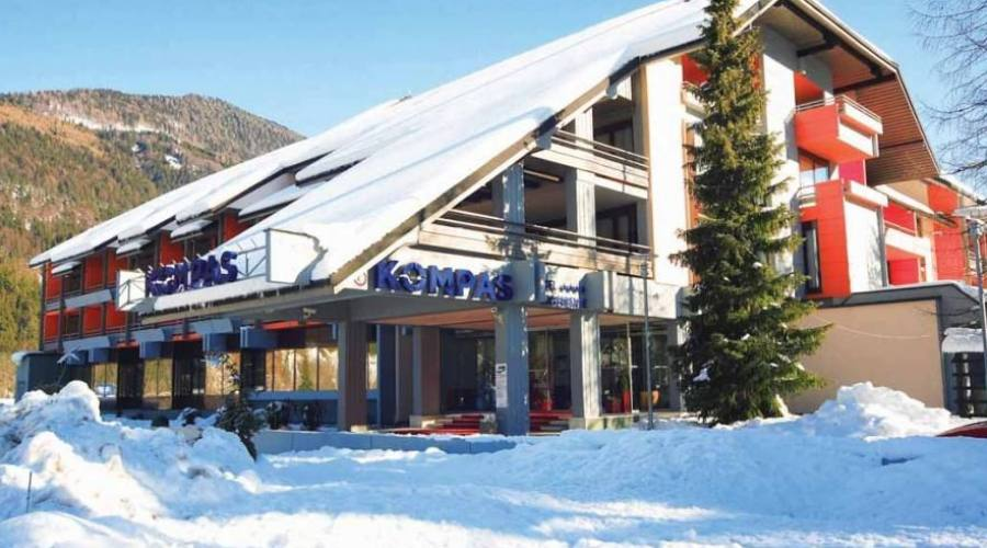 L'hotel - panoramica invernale