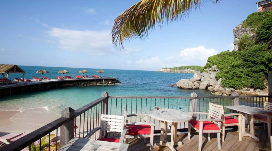 La spiaggia privata dell'Hotel