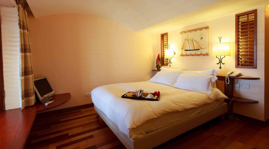 Una delle camere dell'Hotel