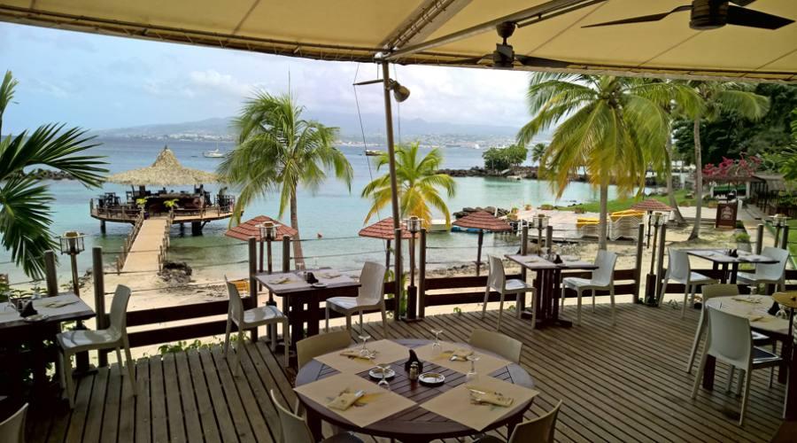 La vista sulla baia dal ristorante