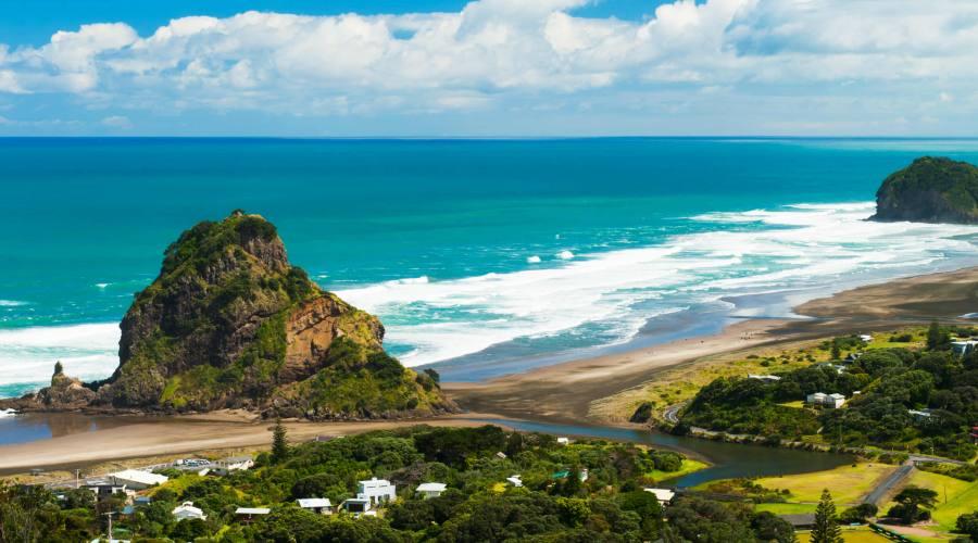 Auckland vista sulla spiaggia
