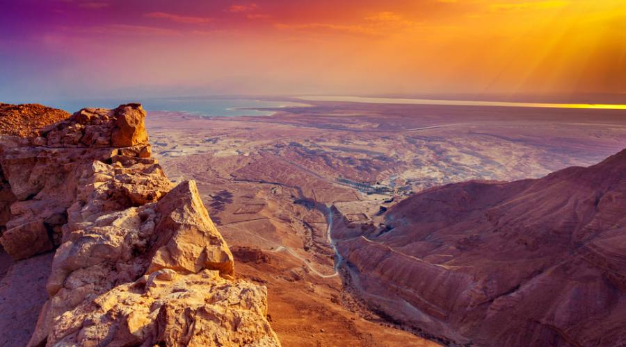 Vista del Deserto di Giudea