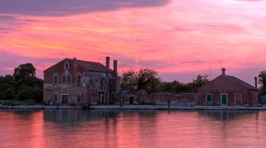 il tramonto in laguna