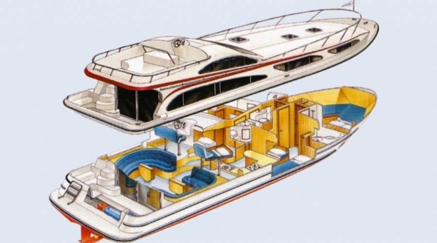 struttura di un houseboat